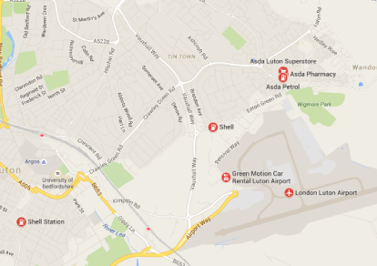 Luton England Map.How To Get To From London Luton Airport